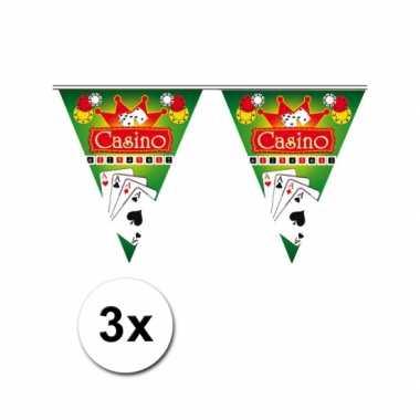 3x vlaggenlijn casino 5 meter